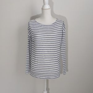 ATM Anthony Thomas Melillo Tops - ATM Blue & White Striped Long Sleeve Tee